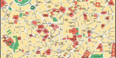 Milano Terkep Terkep Milano Lombardia Olaszorszag